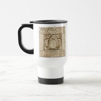 Vitruvian Penguin Travel Mug