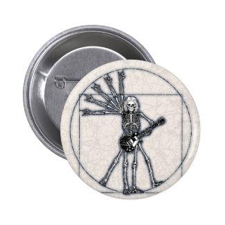 Vitruvian Skeleton 6 Cm Round Badge