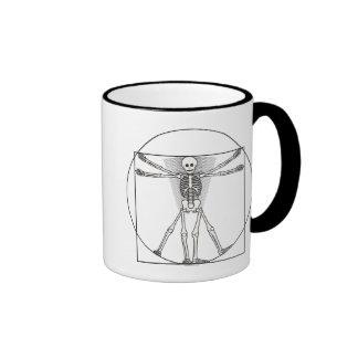 Vitruvian Skeleton Lite Coffee Mug