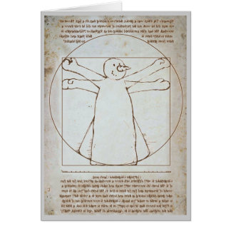 Vitruvian Snowman Greeting Cards