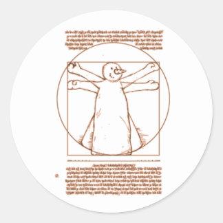 Vitruvian Snowman Sticker