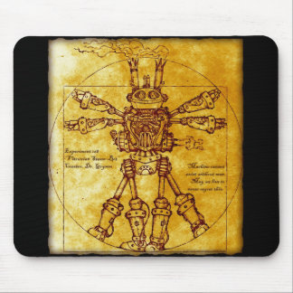 Vitruvian Steam-Bot Mouse Pad