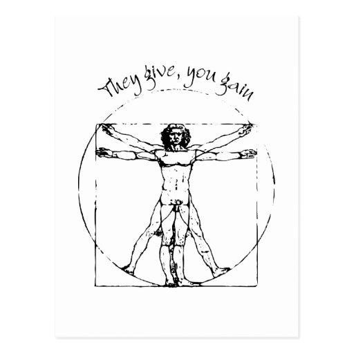 Vitruvian Translation Post Card