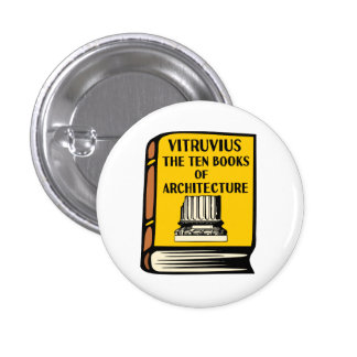 Vitruvius Ten Books of Architecture Book Button
