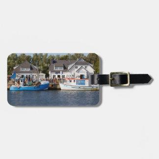 Vitte Harbour on Hiddensee in Mecklenburg Vorpomme Luggage Tag