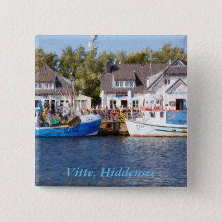 Vitte, Hiddensee 15 Cm Square Badge