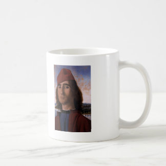 Vittore Carpaccio- Portrait of Man with Red Beret Coffee Mug