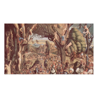 Vittore Carpaccio- The Crucifixion Martyrs Business Card Template