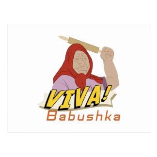Viva Babushka Postcard