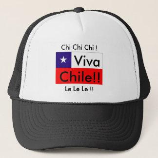 Viva Chile! Chi Chi Chi!  Le Le Le! Chile Flag Trucker Hat