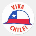 Viva Chile! Round Stickers