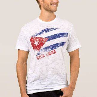 Viva Cuba Distressed Flag T-Shirt