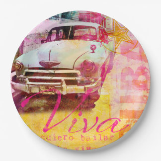Viva Cuba Paper Plate