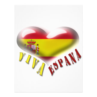 Viva Espana Spain Coat of Arms Heart Flyer