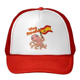 Viva Espana with Octopus Soccer Tshirt Trucker Hats
