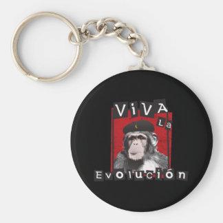 Viva la Evolucion Ape Basic Round Button Key Ring