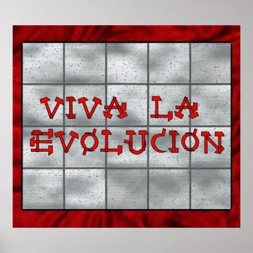 Viva La Evolucion Poster