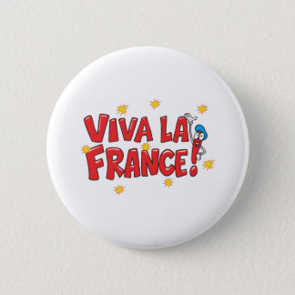 Viva La France 6 Cm Round Badge
