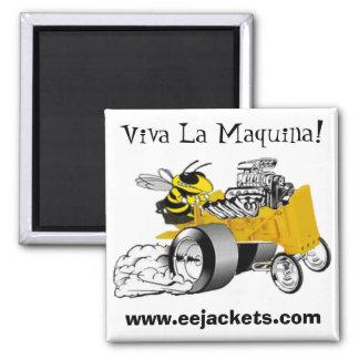 """""""Viva La Maquina"""" E-E Yellow Jacket Dragster Magne Fridge Magnets"""