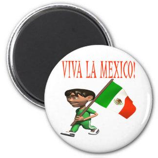 Viva La Mexico 6 Cm Round Magnet