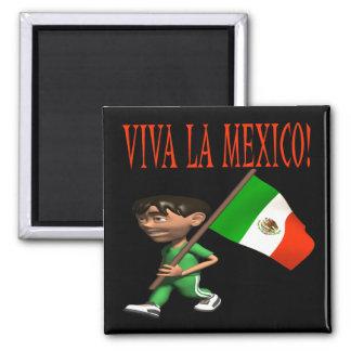 Viva La Mexico Square Magnet