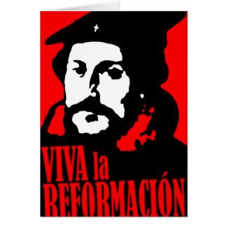 Viva la Reformacion CALVIN Greeting Card