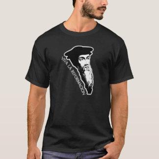 Viva La Reformación - John Calvin (Dark) T-Shirt
