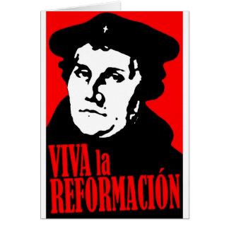 Viva la Reformacion LUTHER Greeting Card