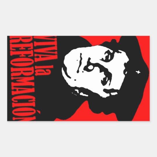 Viva la Reformacion LUTHER Rectangular Sticker