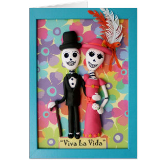 Viva La Vida Day of the Dead Wedding Card
