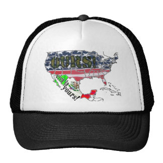 VIVA LA YOURS MEXICO AMERICA IS OURS MESH HATS