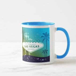 Viva Las Vegas Cyan Blue Gift Mug