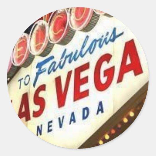 Viva Las Vegas Round Sticker