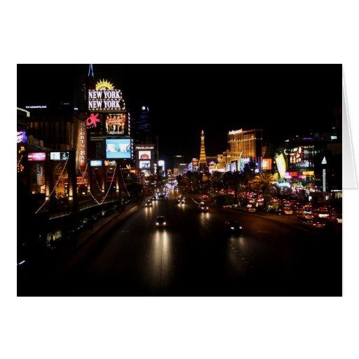 Viva Las Vegas Strip Notecard Greeting Card