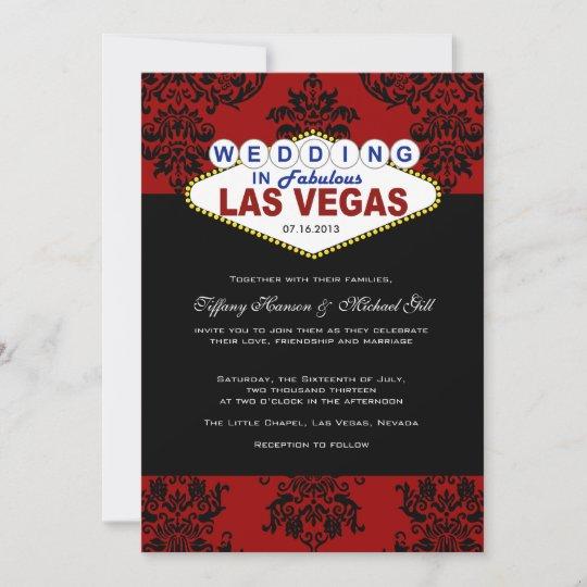 Viva Las Vegas Wedding Invitation Zazzle Co Uk