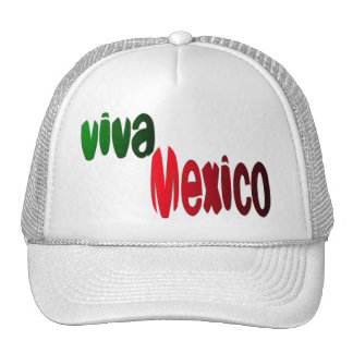 Viva Mexico green and red Mesh Hats