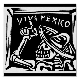 """Viva Mexico- Mexico's """"Day of the Dead"""" Poster"""