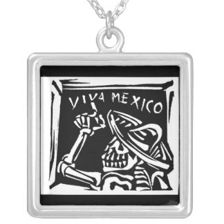 "Viva Mexico- Mexico's ""Day of the Dead"" Silver Plated Necklace"