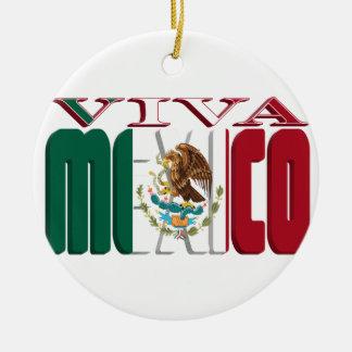 VIVA MEXICO ROUND CERAMIC DECORATION