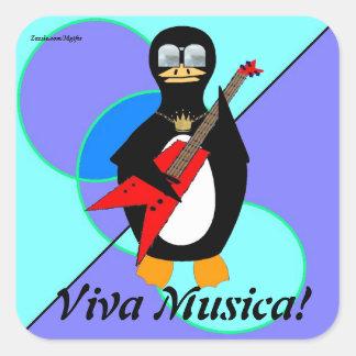 Viva Musica Square Sticker