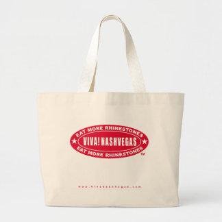 VIVA! NASHVEGAS eat more rhinestones TM Oval Logo Bags