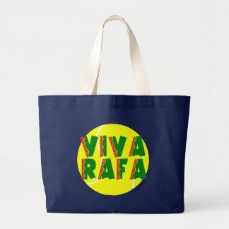 VIVA RAFA with Tennis Ball Large Tote Bag