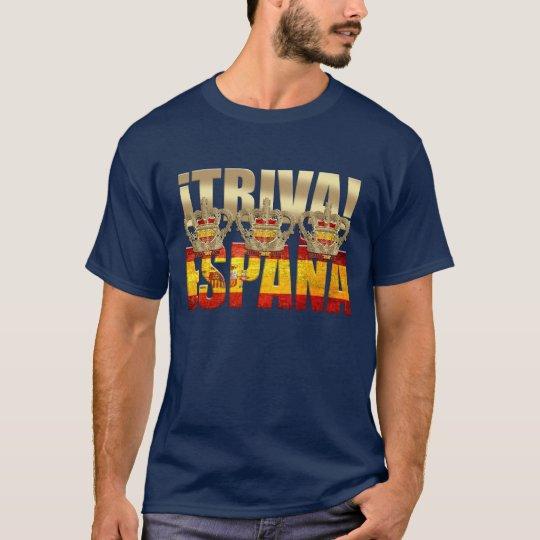 Viva Spain Tricampeones Triva España 2012 Azul T-Shirt
