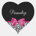 Vivacious Pink Ribbon Modern Fashion Leopard Print