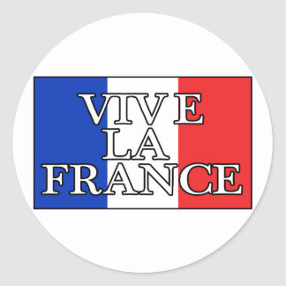Vive La France Classic Round Sticker