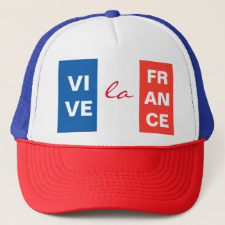 Vive La France French Flag Customizable Trucker Hat