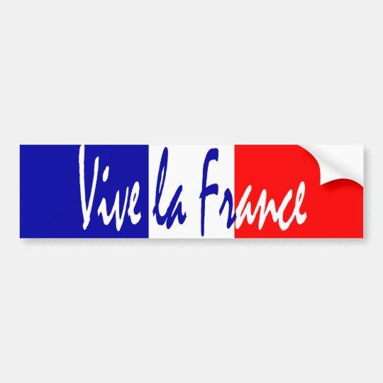 Vive La France - French Patriot's Bumper Sticker