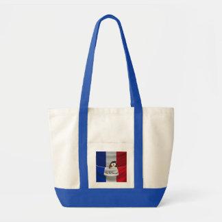 Vive la France owl Impulse Tote Bag