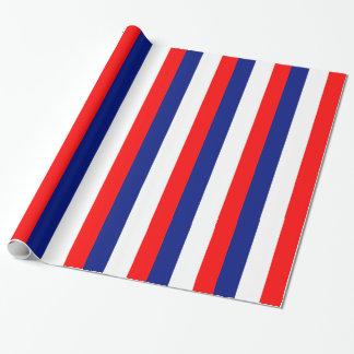 VIVE LA FRANCE tricolor STRIPE20 Wrapping Paper