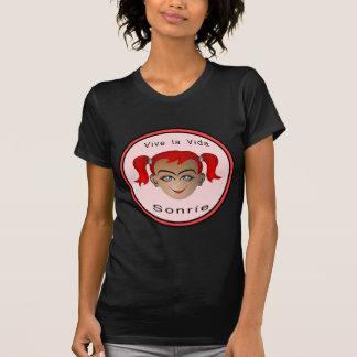 Vive la vida Sonrie Niña Shirts